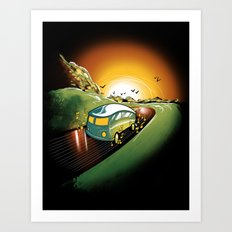Killer Road Trip  Art Print