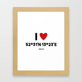 I LOVE BERLIN Framed Art Print