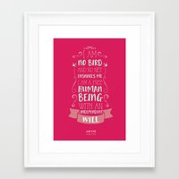 jane eyre Framed Art Prints featuring Jane Eyre by Nikita Gill