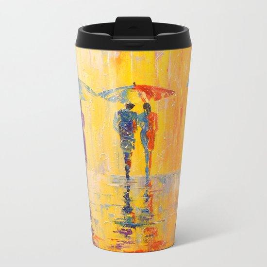 Rain Metal Travel Mug