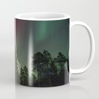 northern lights Mugs featuring Northern Lights  by Limitless Design
