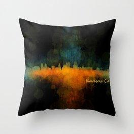 Kansas City Skyline UHq v4 Throw Pillow