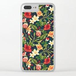 Summer Garden (Hibiscus Paradise) Clear iPhone Case