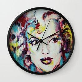 Merylin Monroe cinema and pop culture icon - portrait Wall Clock