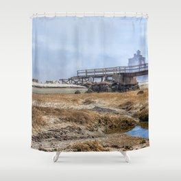 Fog on Good Harbor Beach Shower Curtain