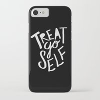 treat yo self iPhone & iPod Cases featuring Treat Yo Self II by Leah Flores