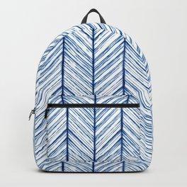 Shibori Herringbone Pattern Backpack