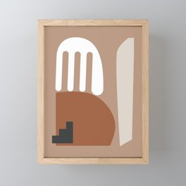 Shape study #10 - Stackable Collection Framed Mini Art Print