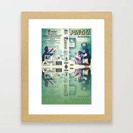 Pingu Plays Penguin Framed Art Print