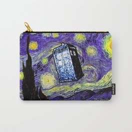 The Tardis in the Starry Night Carry-All Pouch