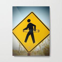 Caution Metal Print