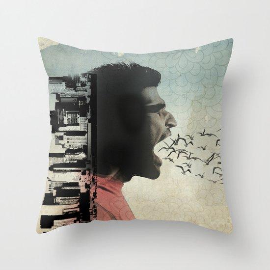 the sound of birds Throw Pillow
