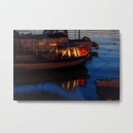Sunset on the turkish aegean sea Metal Print