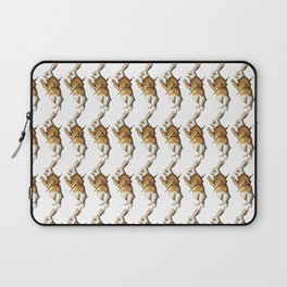 White Rabbit in Color from Alice Adventures in Wonderland Pattern Laptop Sleeve