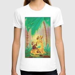 Animal Best Friends - Monkey and Giraffe  T-shirt