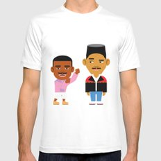 The Fresh Prince (Version 2) LARGE White Mens Fitted Tee