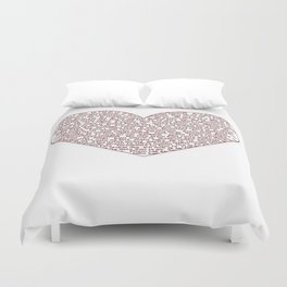 I Love You All Over My Heart Duvet Cover