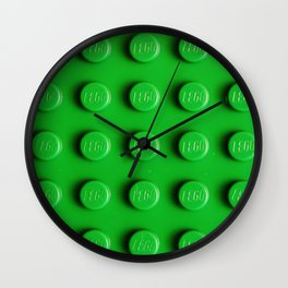 Buliding Blocks - Green Wall Clock