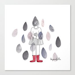 Rainy day! // Longing for fall... Canvas Print