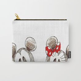 Mickey and Minnie Mouse.  Carry-All Pouch