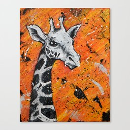 Giraffe Splatter Canvas Print