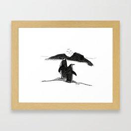 Penguins Gerahmter Kunstdruck