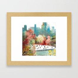 Wollman Rink Central Park Framed Art Print