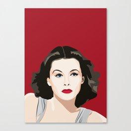 Hedy Lamarr portrait Canvas Print