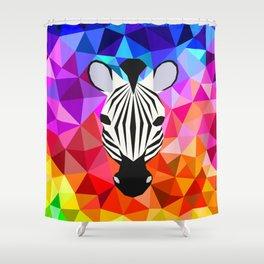 Zebra Dazzle Shower Curtain