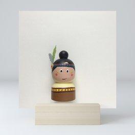 """""""Sacajawea"""" Indian girl Mini Art Print"""