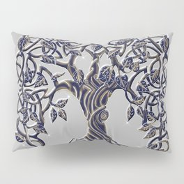 Tree of Life Silver Pillow Sham