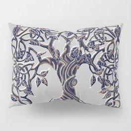 Tree of Life Silver Pillow Sham
