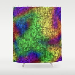Equilateral Tie Dye Shower Curtain