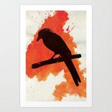 Dark Wings, Dark Words Art Print