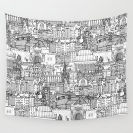 Edinburgh toile black white Wall Tapestry