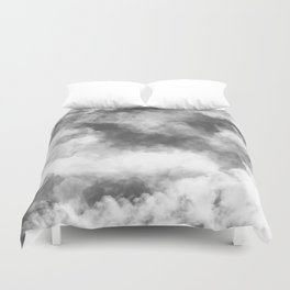 Grey Clouds Duvet Cover