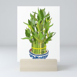 Lucky Bamboo in Porcelain Bowl Mini Art Print