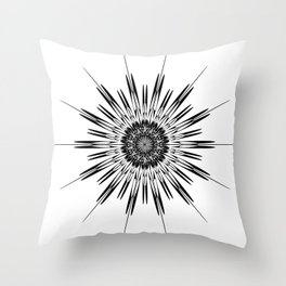 Schematic stars, Stars and curved. Throw Pillow