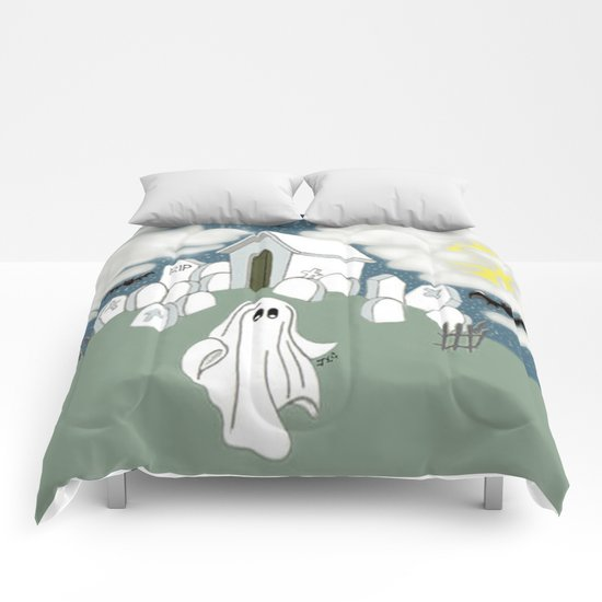 Grave Yard Shift Comforters