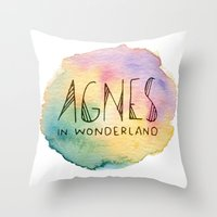 agnes cecile Throw Pillows featuring Agnes in Wonderland by Agnes in Wonderland