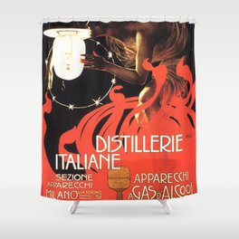 Vintage poster - Distillerie Italiane Shower Curtain