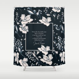 When the day shall come that we do part... Jamie Fraser Shower Curtain