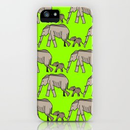 The elephants walk in two by two. Hurray! Hurray! iPhone Case