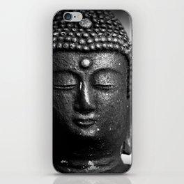 Contemplate - Buddha Black & White iPhone Skin