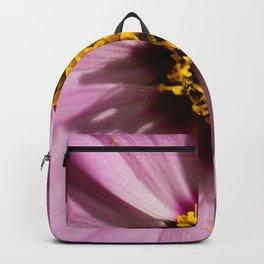 Macro shot of pink flower Backpack