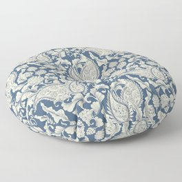 Vintage & Shabby Chic - William Morris Classic Blue Antique Floral Floor Pillow