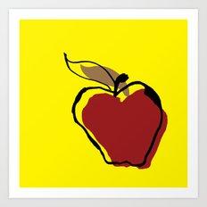 STATIONERY CARD - Apple for Teacher Art Print
