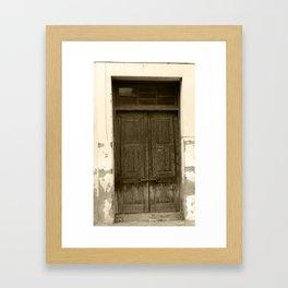 The Crooked Door Framed Art Print