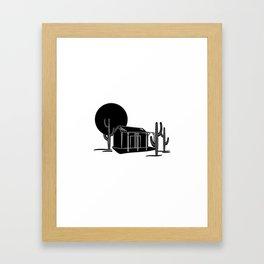 Desert hideout Framed Art Print
