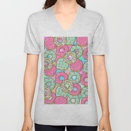Sweet Donuts Cookies Unisex V-Neck